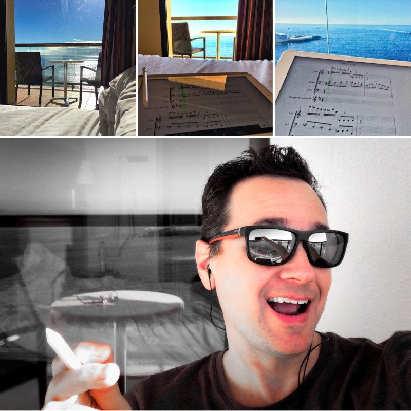 Room with a View Collage inspiring Franco Esteve's music composition