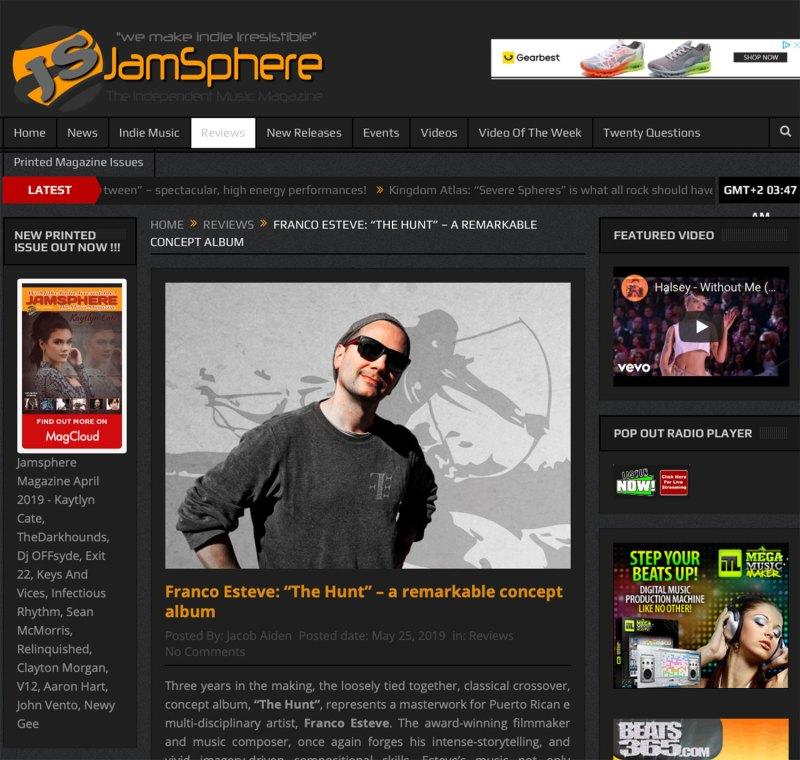 JamSphere Magazine The Hunt Concept Album Review Photo