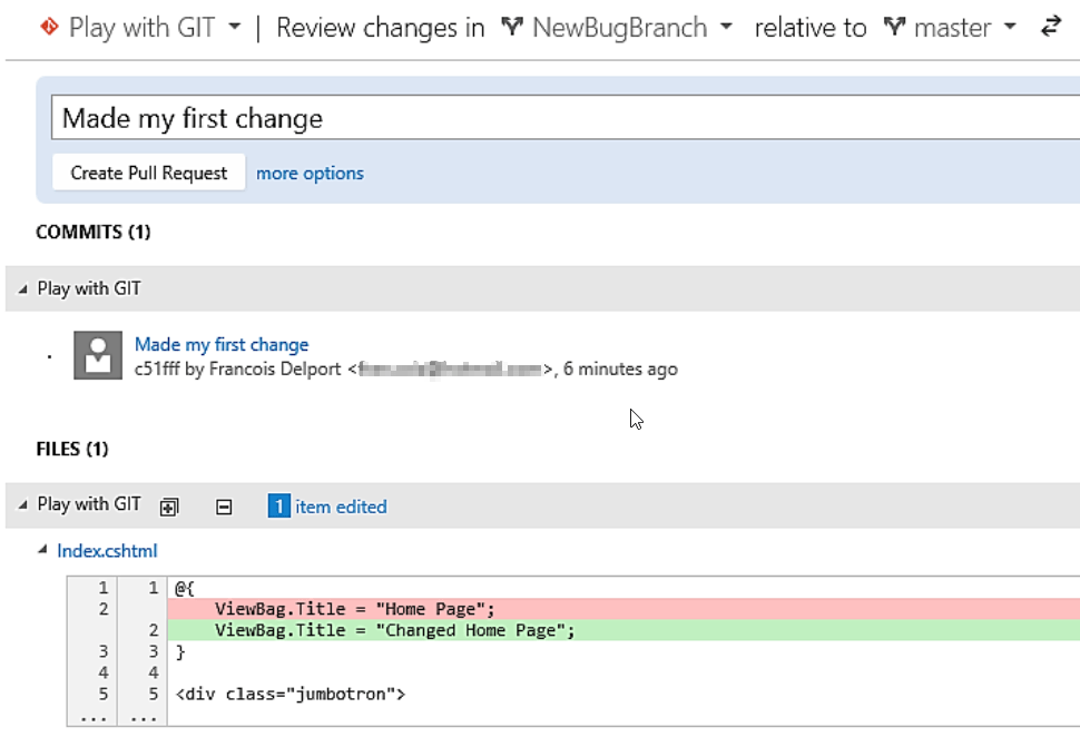 Git Branching In Visual Studio 2015 - Technology short and sweet
