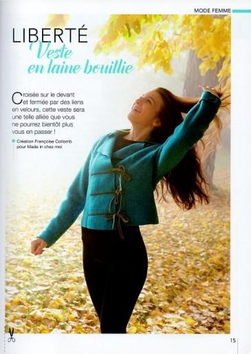 veste laine bouillie Françoise Collomb