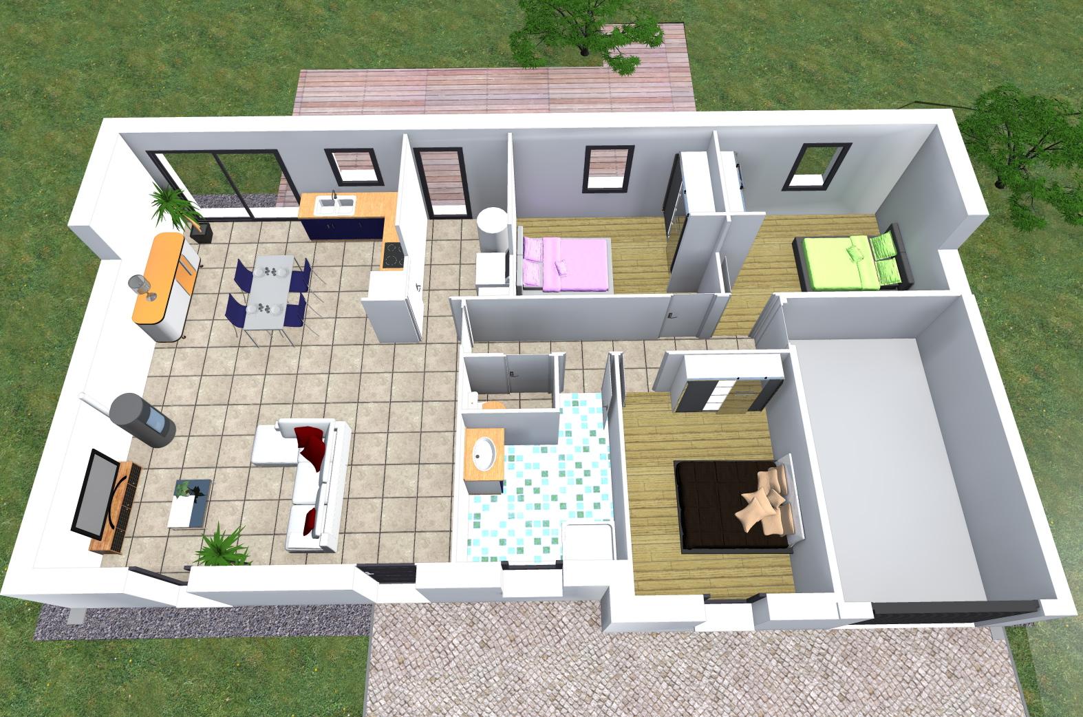 Modles de maisons  construire  Maison Franois Fabie