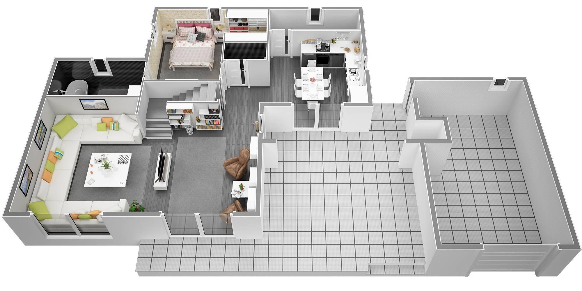 Plan maison contemporaine 120m2  Maison Franois Fabie