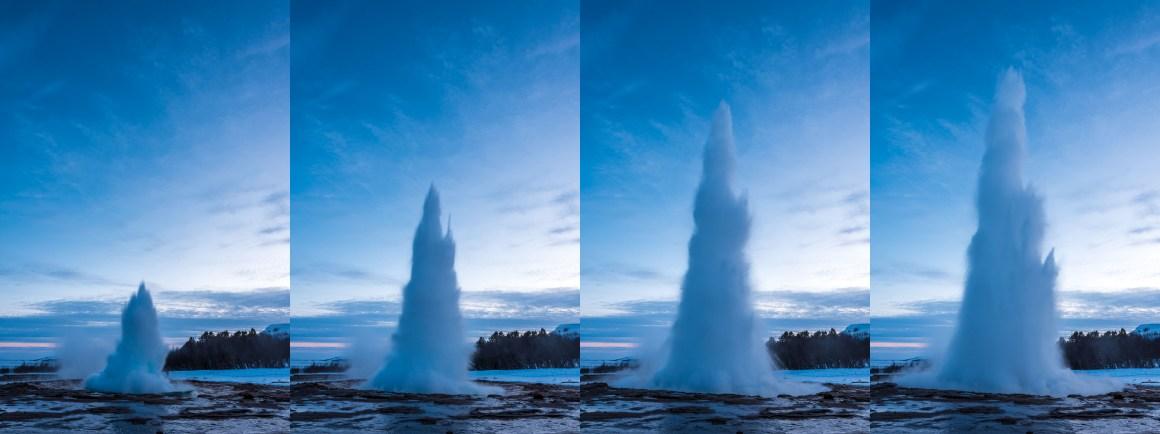 Le geyser de Strokkur
