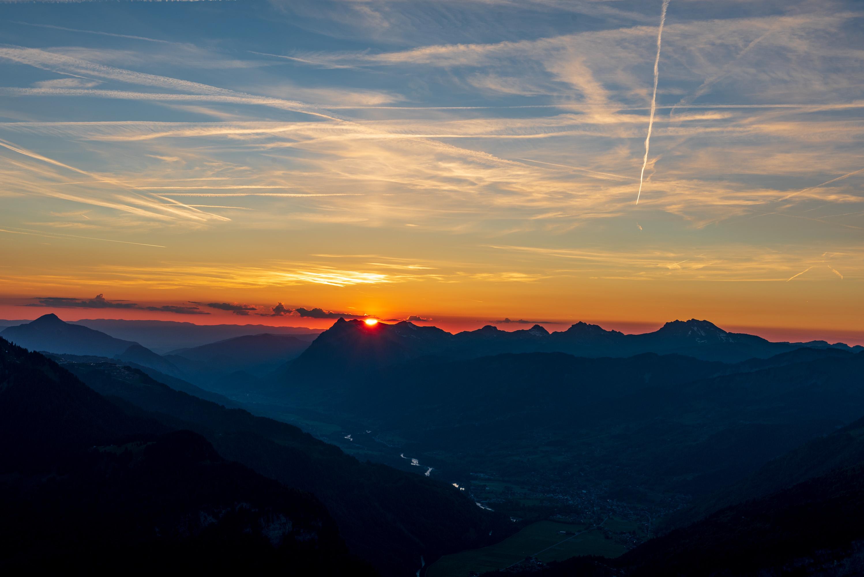 Coucher de soleil sur la vallée de Sixt-Fer-à-Cheval