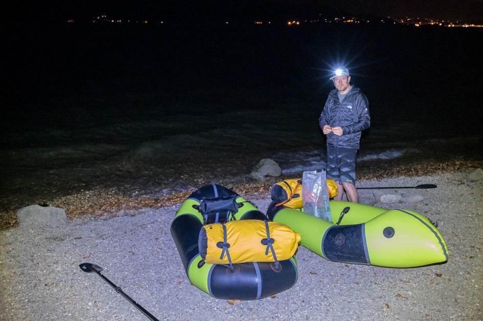 Bruno Berthet packraft nocturne Aqua Xtreme