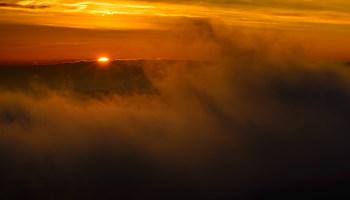 Sunset haut savoyard