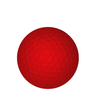 balle de golf rouge