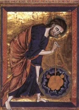 Dieu mesure le Monde, enluminure XIIIe siècle