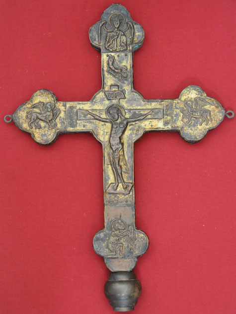 Franco Valente  La croce astile di Castel del Giudice un