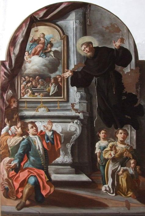 Franco Valente  San Giuseppe da Copertino nella chiesa di