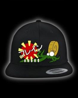 schwarzes Snapback Cap mit Sushi Motiv