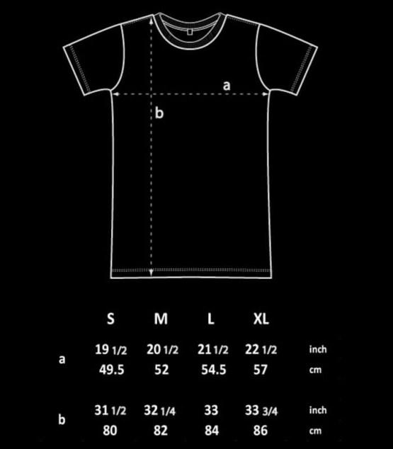 Longshirt Size Chart