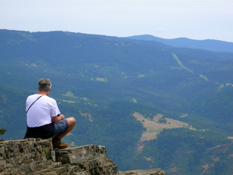 Rick stops to admire the view while on our hike.