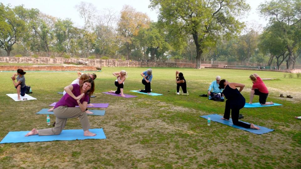 Yoga at Sarnath