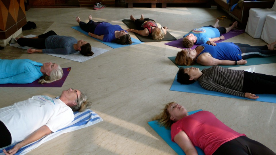Shavasana at the end of class, our last session, our last day in India together. Namaste