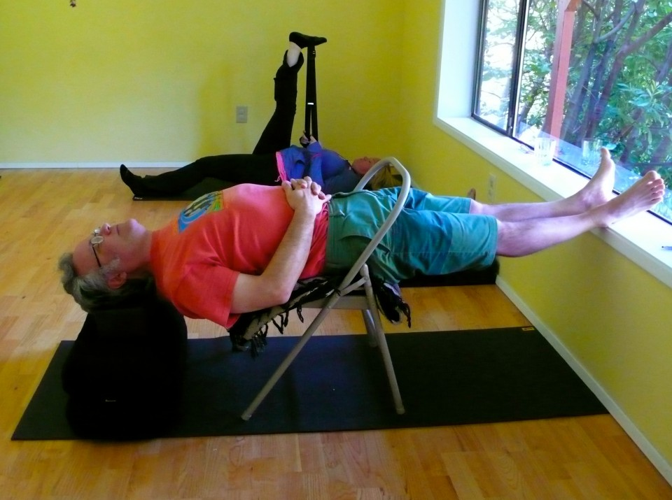 Chillin' out:  Restorative Yoga