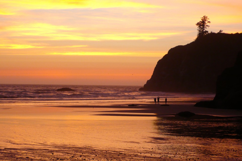 Sunset at Ruby Beach, Washington