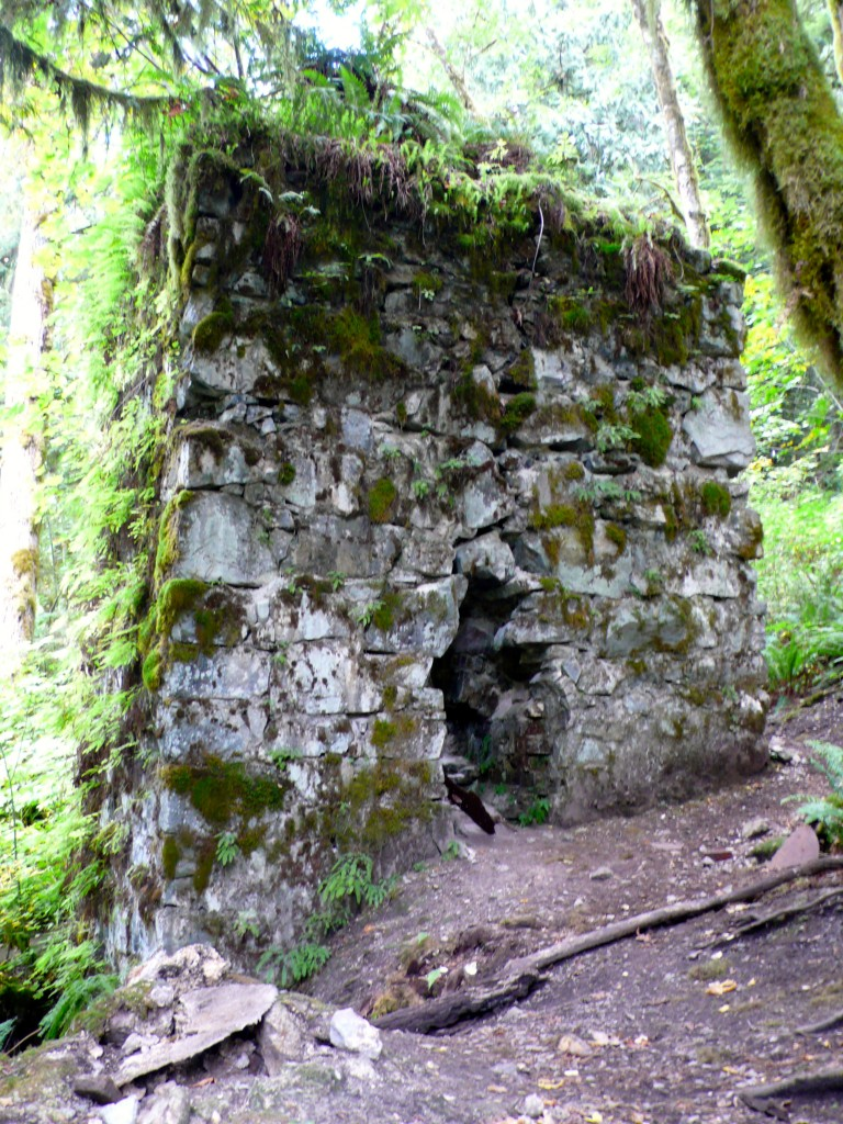 Another view of the kiln.  Here you can see the moss and fern covered walls.