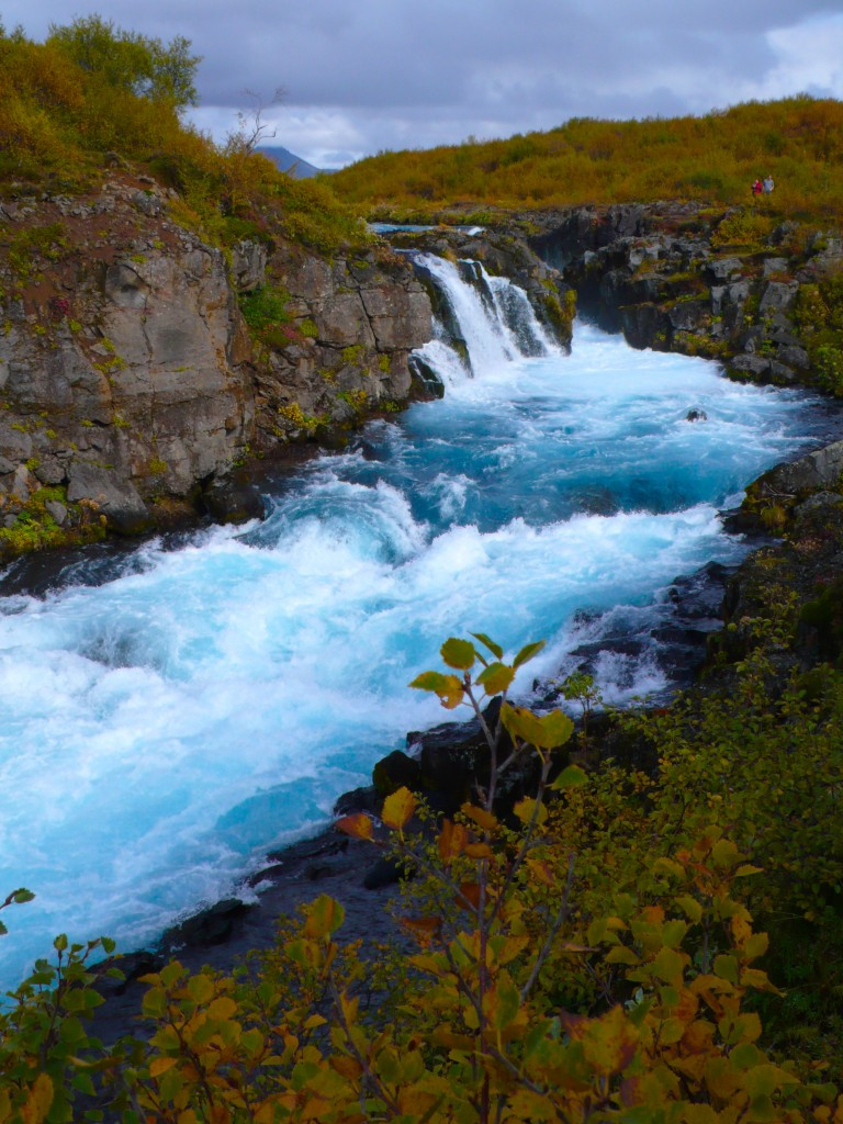 Glacial Blue Waterfall, a hidden gem...Buarfoss Waterfalls