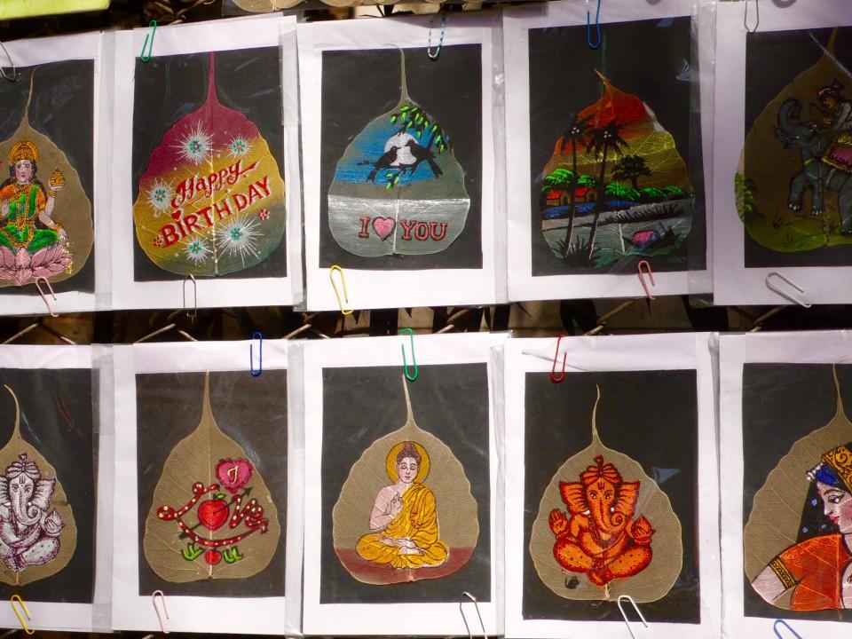 Market: Leaf paintings