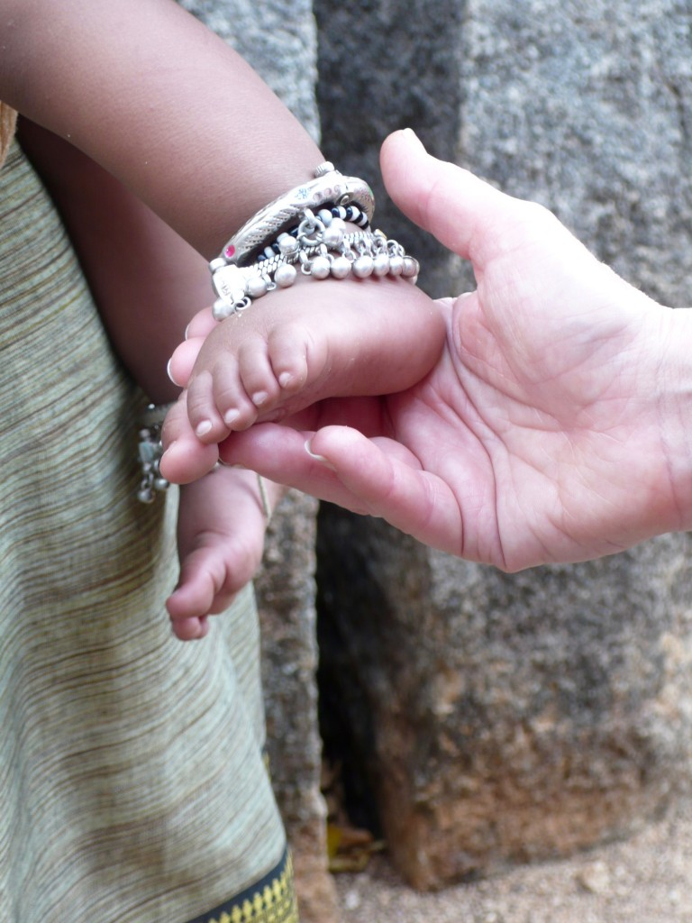 One of my favorite shots of the day...precious bejeweled feet of an 8 month-old girl