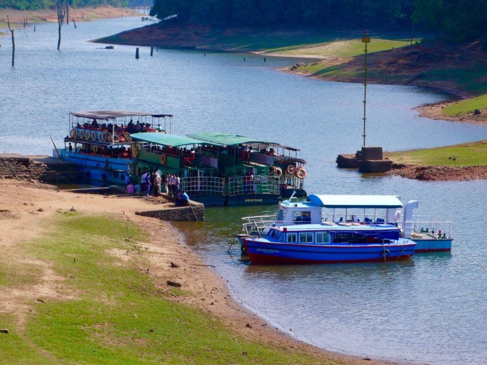 Boat ride on Periyar Lake