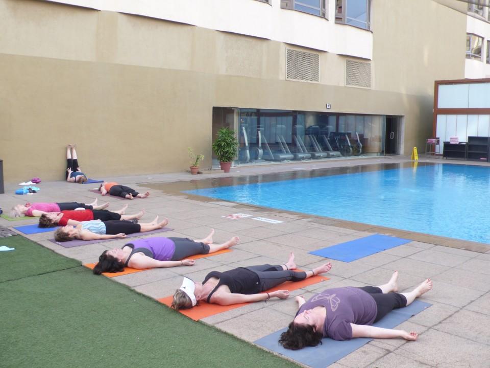 Mumbai rooftop yoga