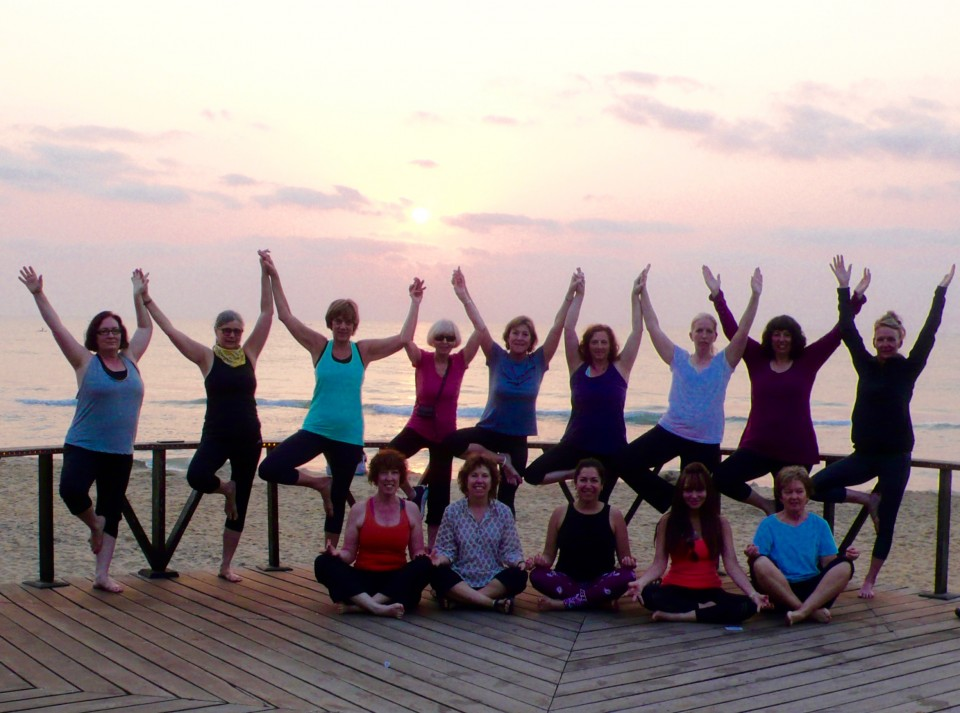 Yoga at Sunrise on the beach at Mahaballipuram