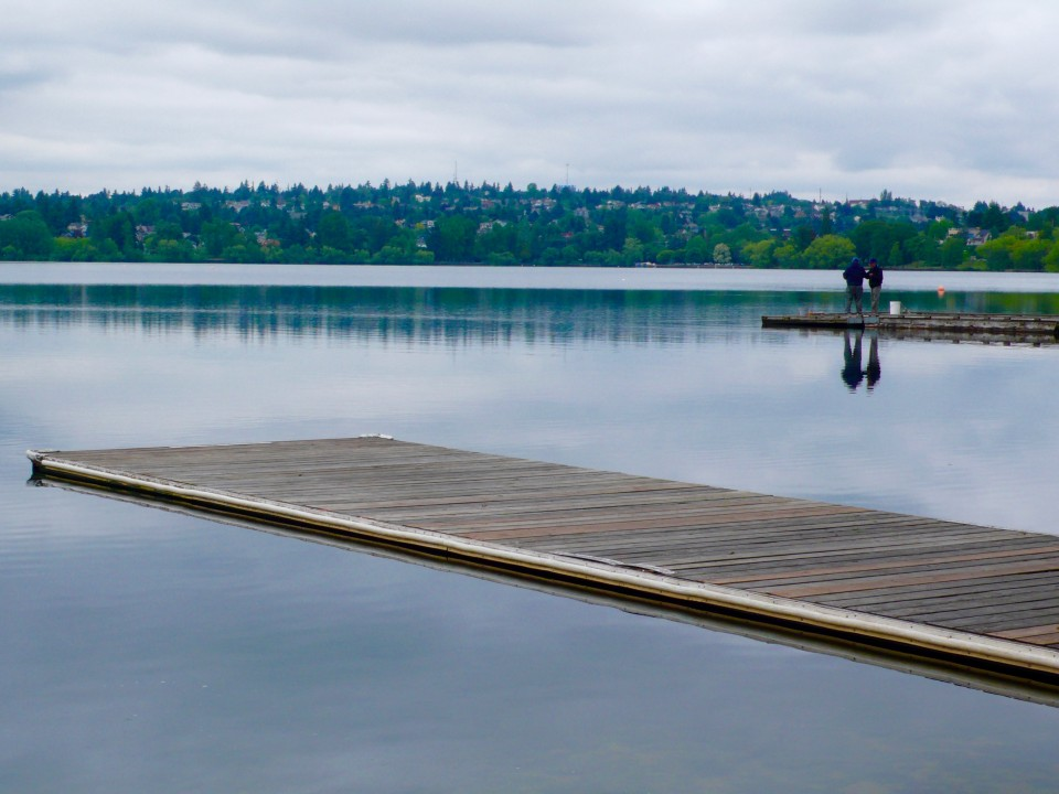 Clean Lines of Lake and Dock