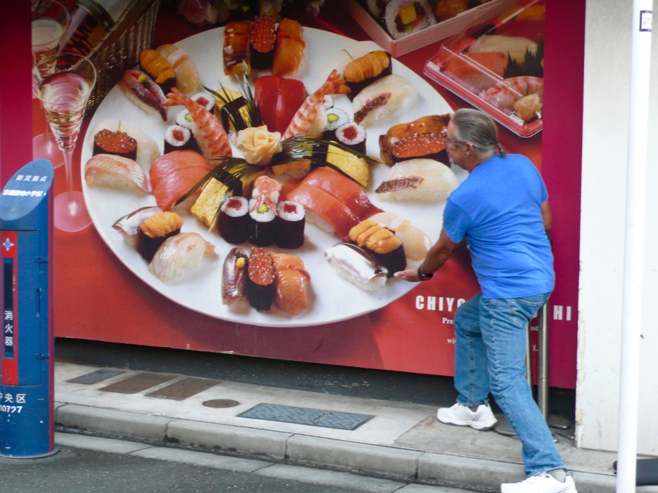 And then you have fun with giant billboards and pretend you can eat the giant sushi within your grasp!