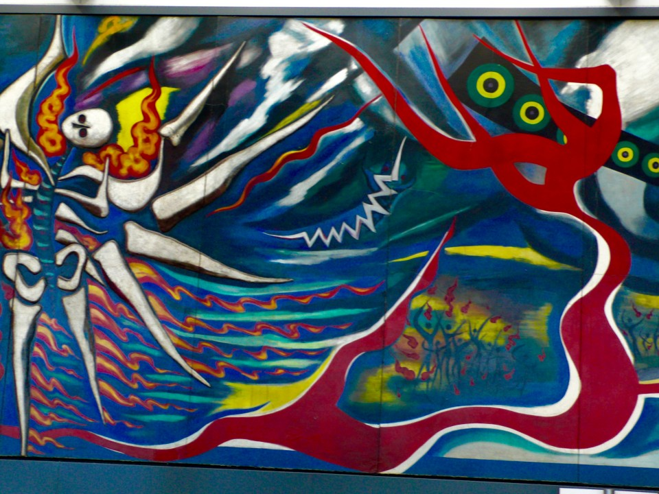 Taro Okamoto 1969 Myth of Tomorrow (artist/muralist) featured at the Tokyo National Museum in Ueno Park