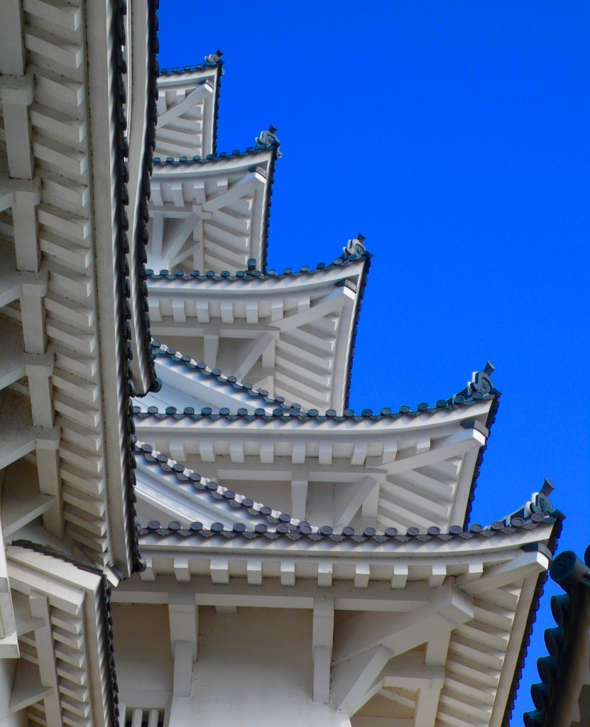 Some of the roofs of the 7 level roofed castle.