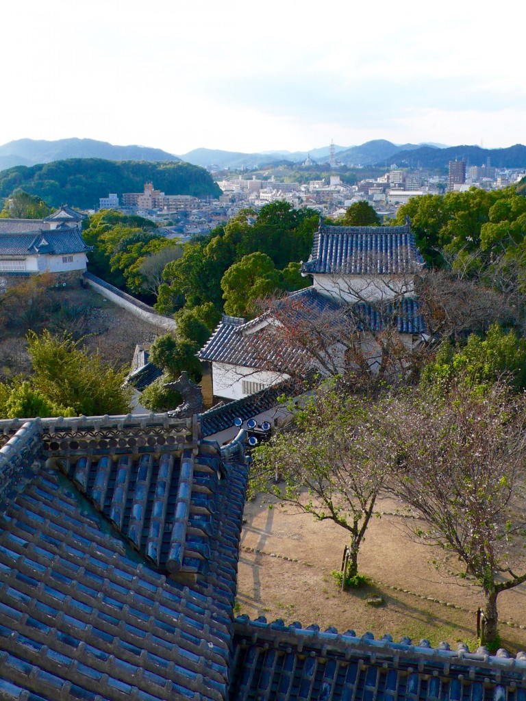 View of Himeji from the 5th floor of the castle