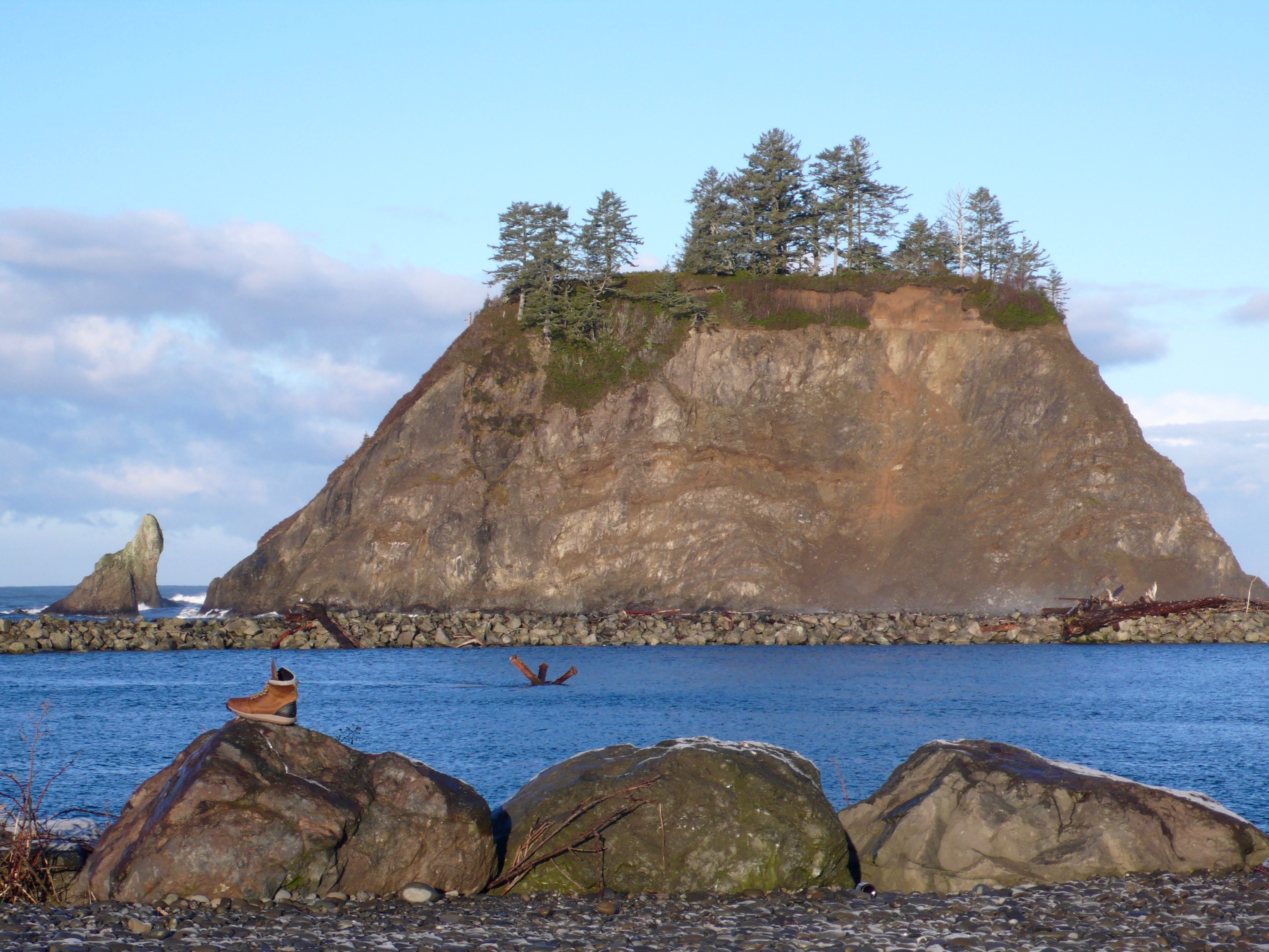 Looks unreal. Color untouched, clear skies, cold day at La Push