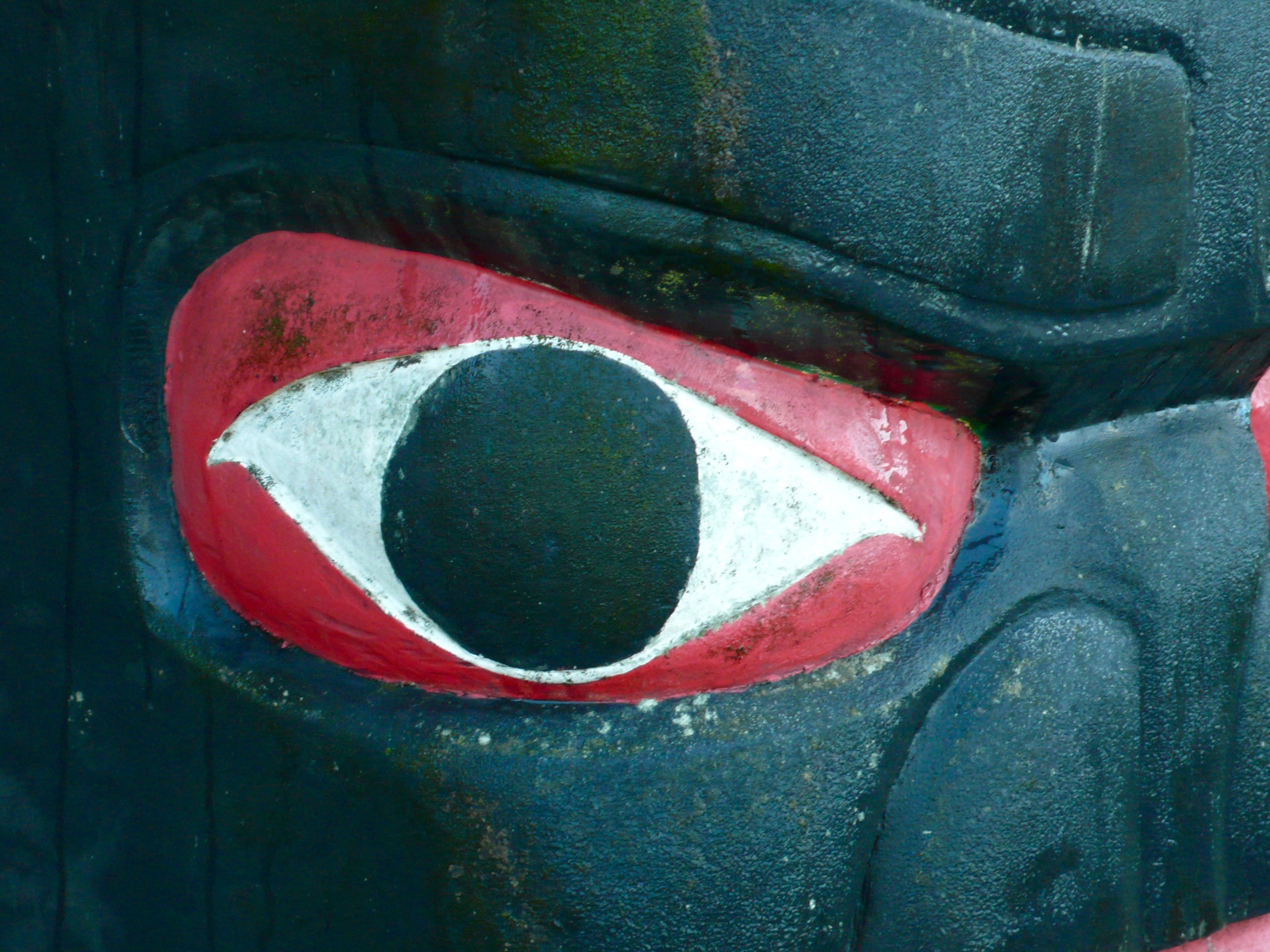 Eye: Quileute Nation Totem Detail