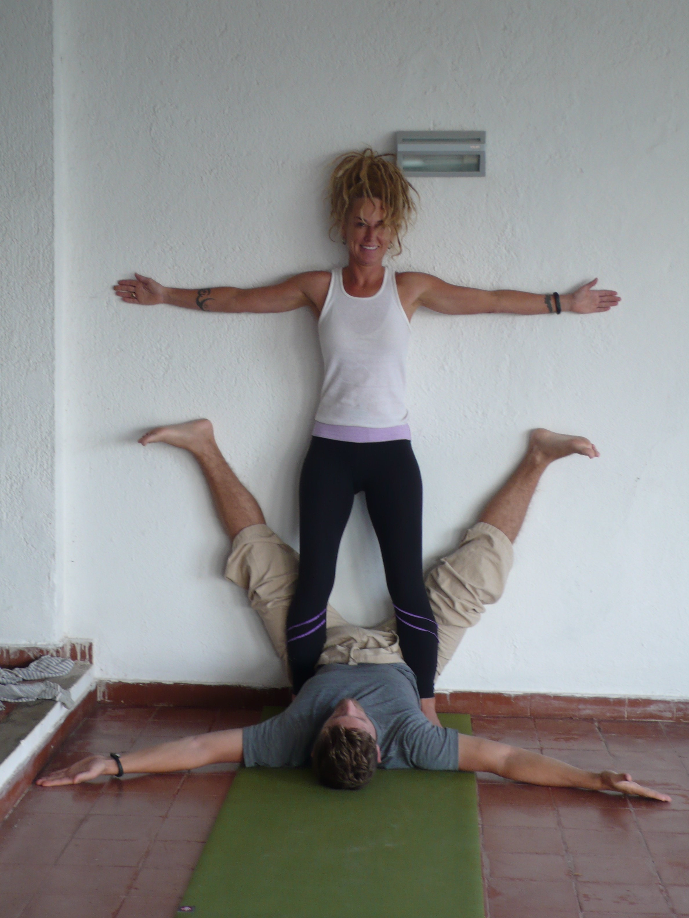 Ursula and Drew at the 2014 Sicily Hatha Yoga Retreat
