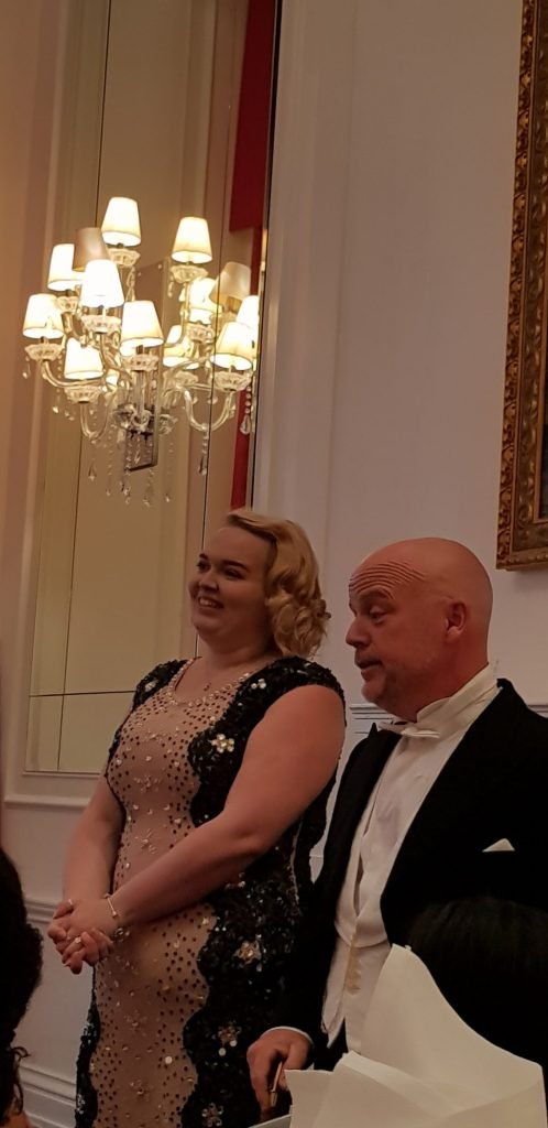 Lord and Lady Right entertaining the guests at A Right Royale Tea