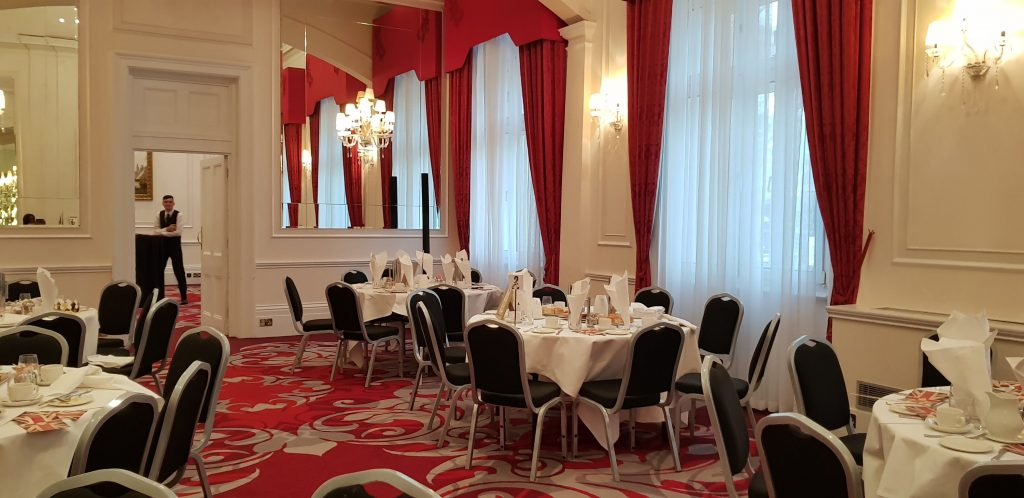 The drawing room for afternoon tea in A Right Royale Tea