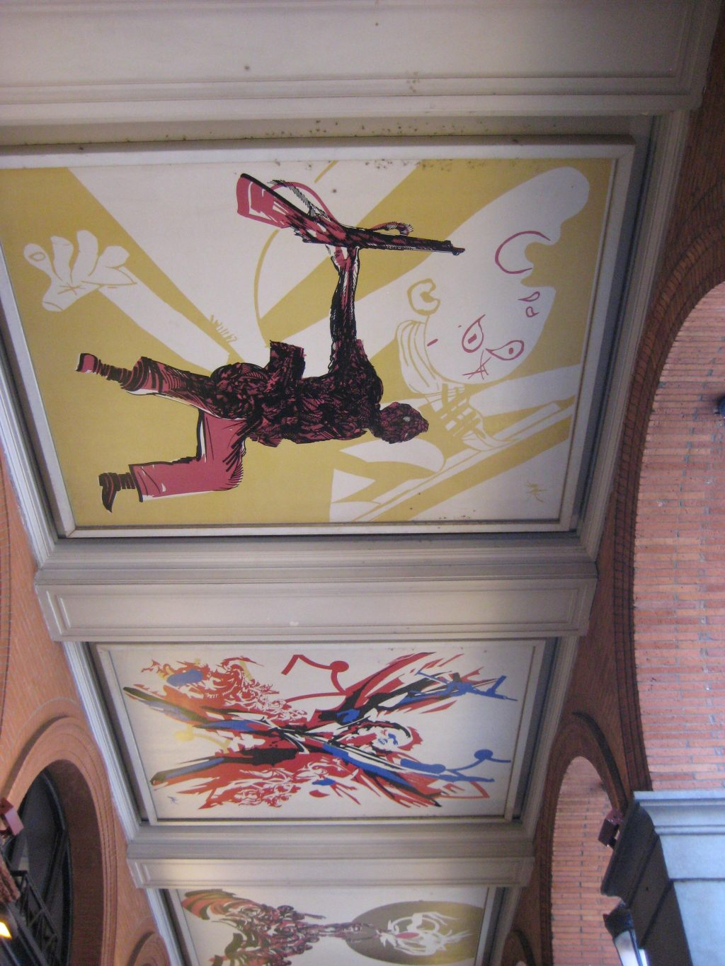 Paintings on the ceiling at Place du Capitole