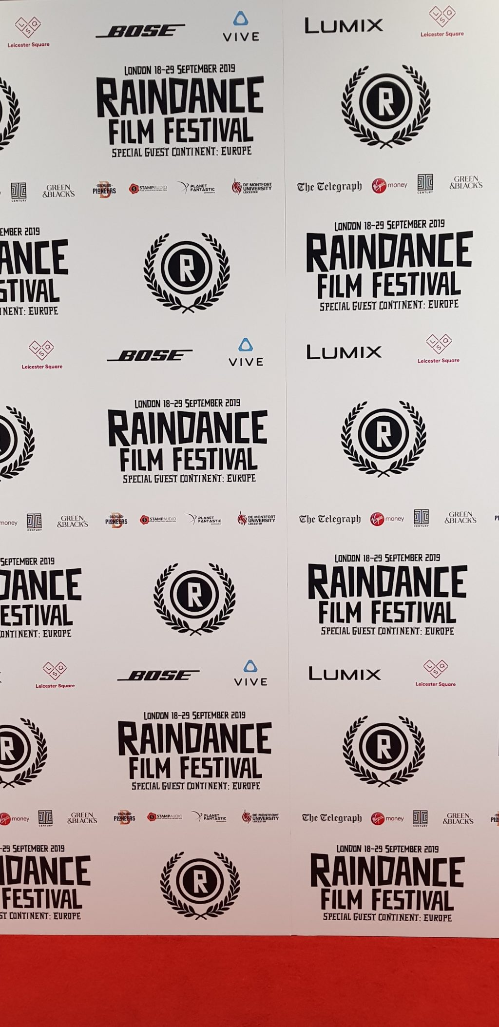 The red carpet at Raindance film festival