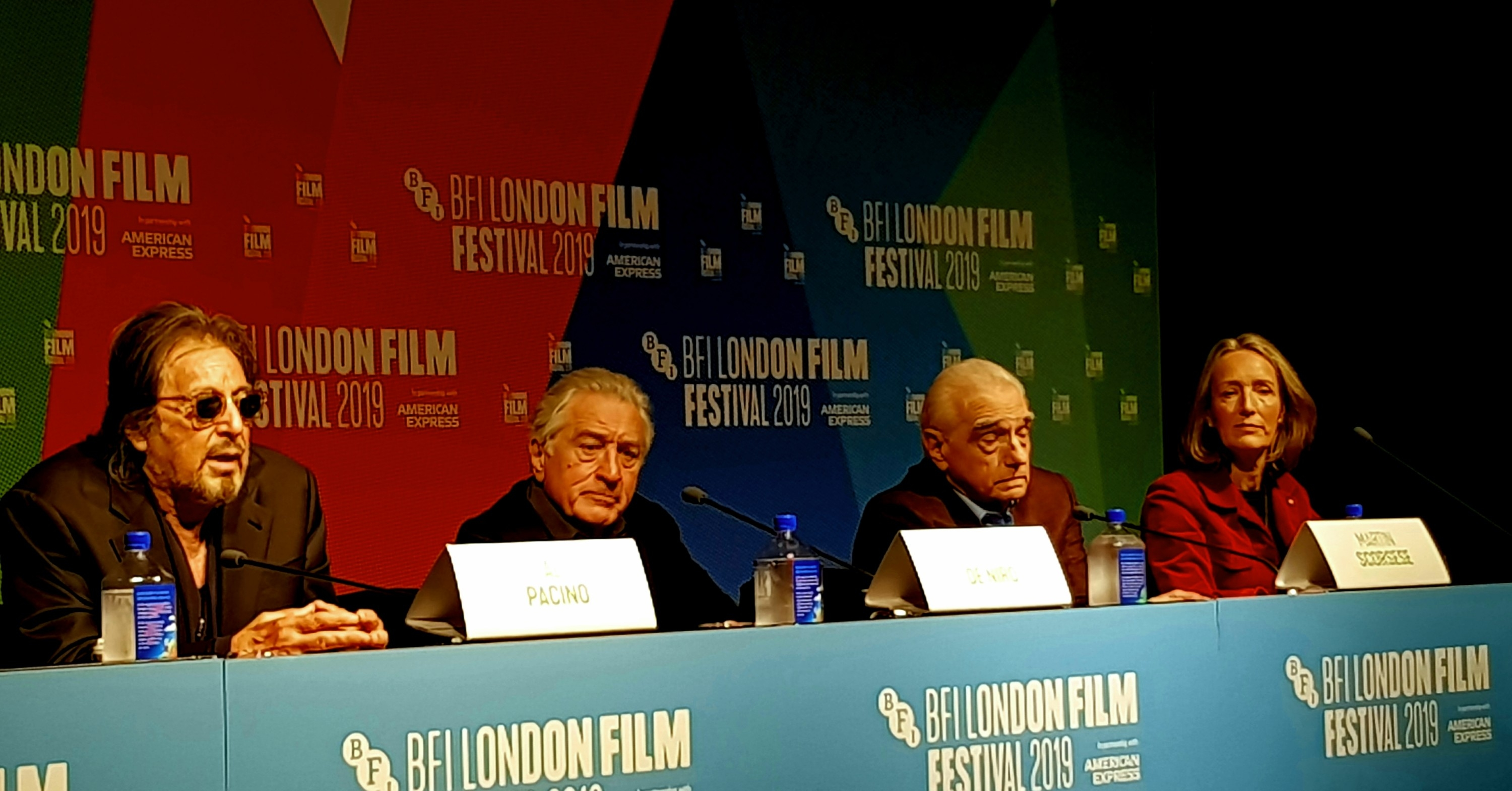 Pacino, De Niro and Scorsese at the The Irishman Press conference for LFF