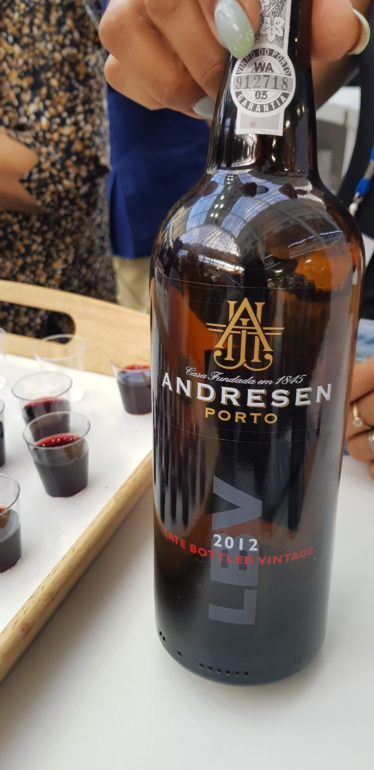 Port samples at wine tasting at The Destinations Show