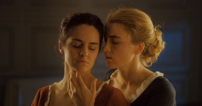 Noémie and Adèle as Marianne and Héloïse in Portrait of a Lady of Fire