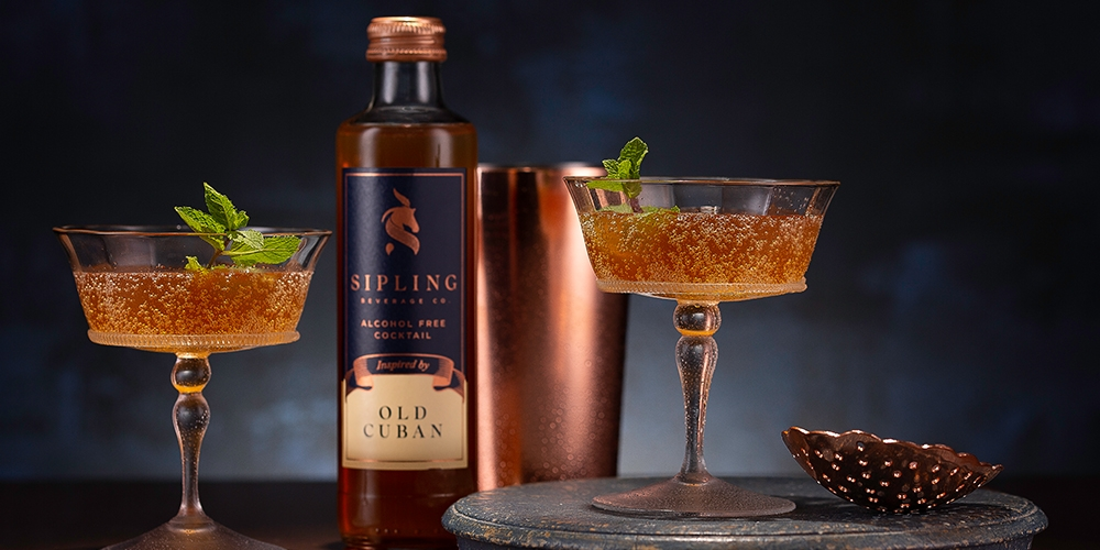 Old Cuban alcohol free cocktail from Sipling