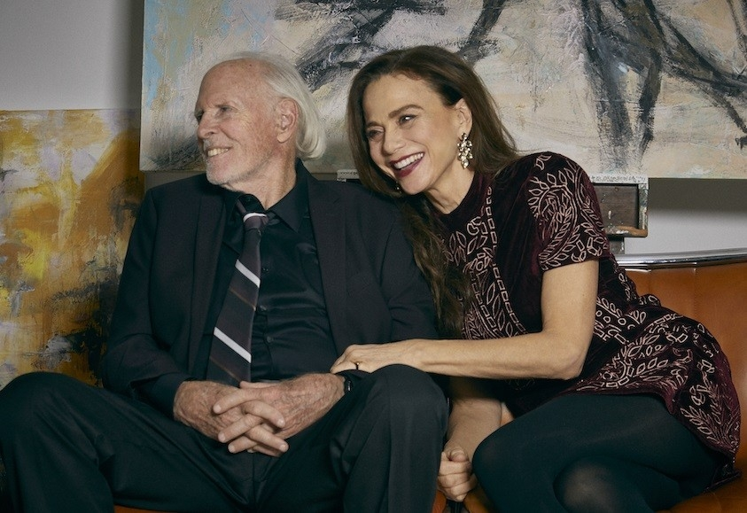 Bruce Dern and Lena Olin as Richard and Claire in The Artist's Wife