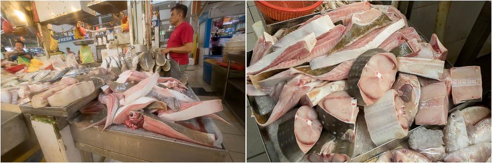 Bowmouth guitarfish (Rhina ancylostoma) steaks.