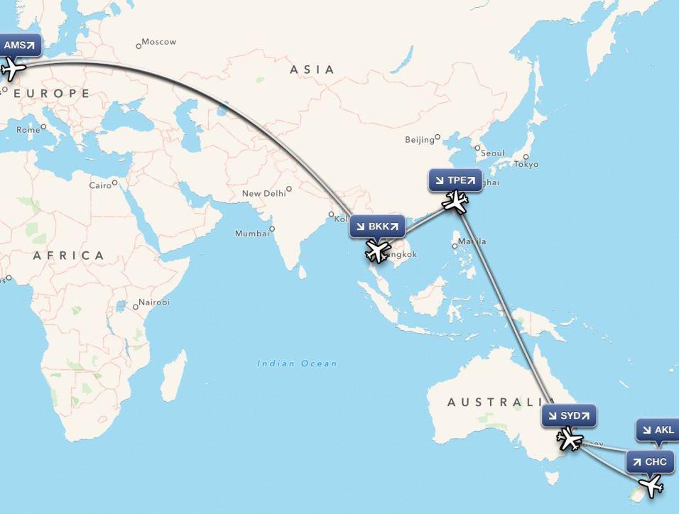 NZ 2016: Auckland-Christchurch: vluchten