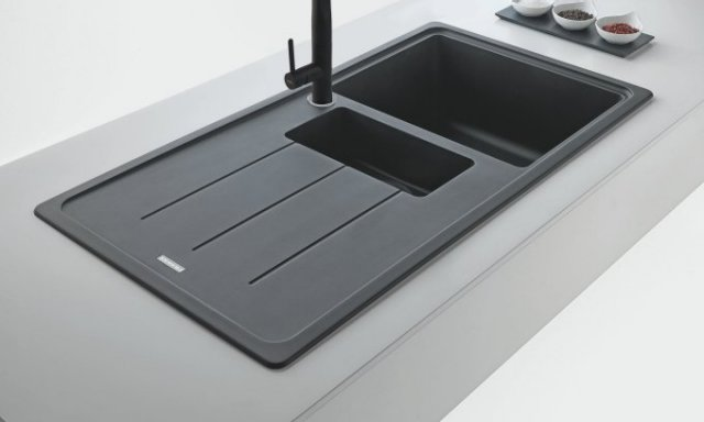 black sink kitchen granite for outdoor products franke systems selecting your perfect