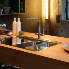 Brown Kitchen Sink Ceiling Light Fixture Sinks
