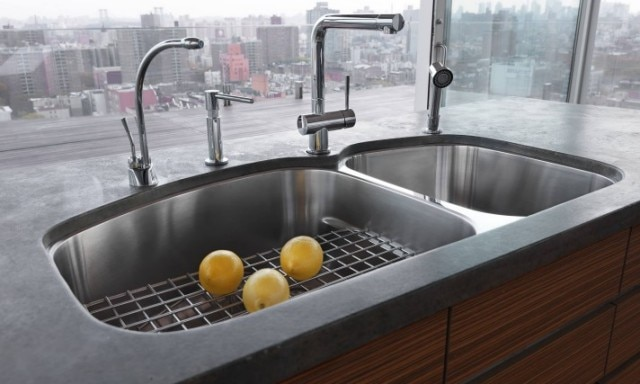 franke kitchen sinks delta trinsic faucet products systems a multifunctional workspace integral ledge